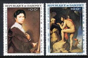 Dahomey #YTPA53-YTPA54 MNH CV€9.00 1967 Ingres Oedipus Sphinx [C49-C50]