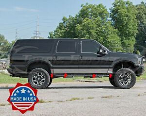 2000 2005 Ford Excursion 8pc Chrome Rocker Panel Trim 8 Stainless Steel No Clad Ebay