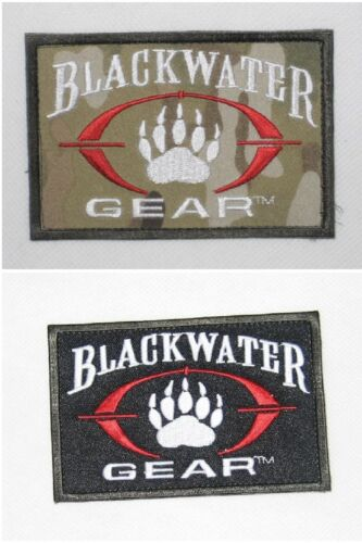 New Tactical Military Patch Blackwater Claw Skull Arm-Badge With Hook Back