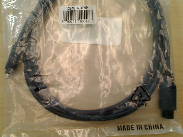 FireWire Cable, 6ft, IEE-1394, 9 pin to 4 pin