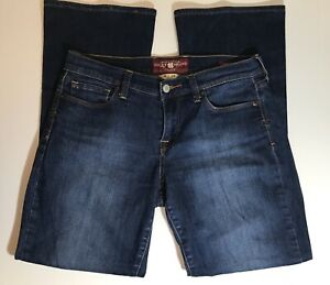 EU-Womens-Lucky-Brand-Size-8-29-Dark-Wash-Sofia-Bootcut-Ankle-Jeans