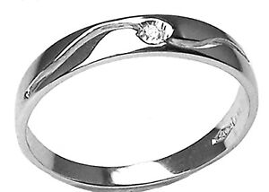 fedina oro bianco con diamanti