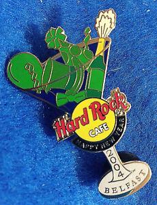Belfast-New-Year-Martini-Vidrio-Verde-Sombreros-Globo-Champan-Hard-Rock-Cafe-Pin