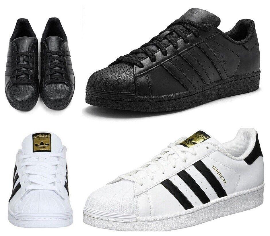 Adidas Para Hombre Originals Superstar Entrenadores Negro blancoo