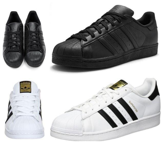 mens black adidas superstar trainers