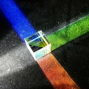 UK Optical Glass Square Cube Prism Physics Refractor Teaching Light Spectrum