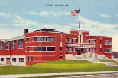 Postcard IN Evansville National Guard Armory Vintage