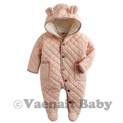 "NWT Vaenait Baby Girl Hoodie Snowsuit Padded Jumpsuit All in one""Pastel Padding"""