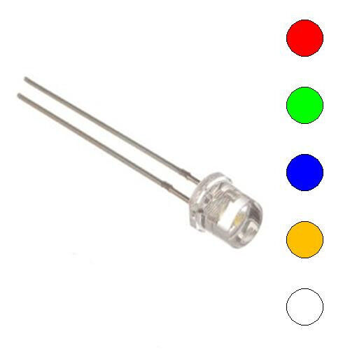 E-Projects - 5 Color Assorted 5mm LEDs - Wide Angle Light (125 Pcs)