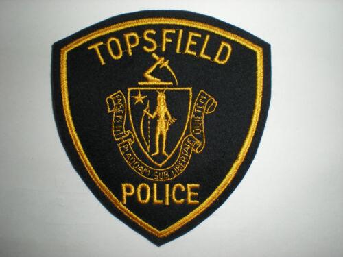 BLACK FELT MASSACHUSETTS POLICE DEPARTMENT PATCH TOPSFIELD
