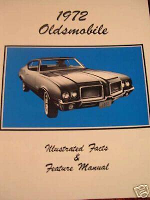 1972 Oldsmobile Cutlass 442 F85 Feature Manual