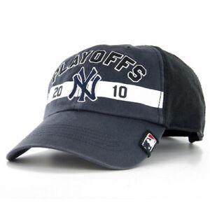 New York NY Yankees  47 Brand MLB Baseball 2010 Playoffs Cap Hat ... b65f5980c780