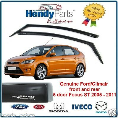 New GENUINE FORD FOCUS MK2 ST225 5 DOOR CLIMAIR WIND AIR DEFLECTORS FRONT + REAR