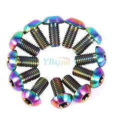 12 Titanium Ti Rainbow Bike Bolts For Rotor Disc Brake Torx T25 M5x10mm Fastener