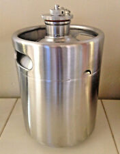 Craft Beer Stainless Steel Growler 64 oz (2 ltr) NEW with PRESSURE RELIEF VALVE!