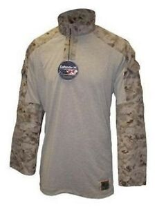 Us-Marine-Corps-USMC-MARPAT-Desert-Digital-Frog-Combat-camiseta-Camisa-Medium-Long