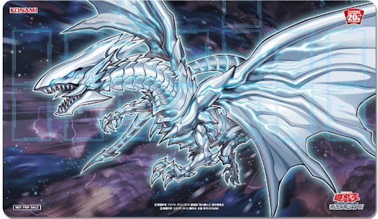 NEW   YUGIOH bluee-Eyes Alternative Alternative Alternative White Dragon Official Playmat & 2 Cards 166404