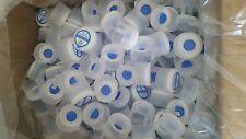Lot of 50, 3 & 5 Gallon Water Bottle Snap Cap Anti Splash 55mm Kleen Peel Off