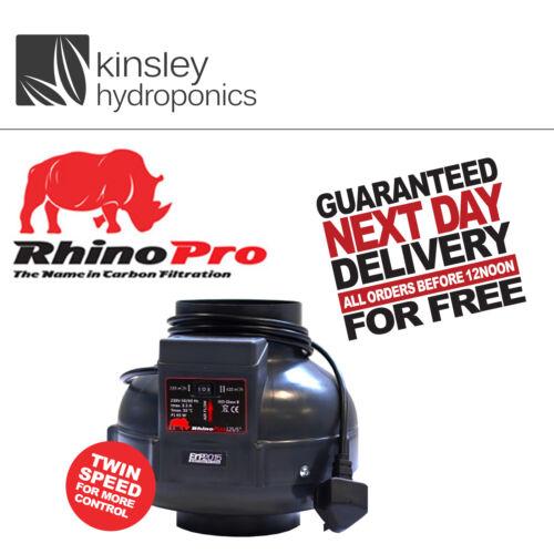 "Rhino Fan Twin Speed 6/"" 150mm Inline Extractor Hydroponics A1 L1 Filter RVK"