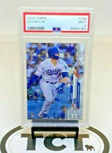 2020 Topps Series 1 MLB Baseball Gavin Lux RC PSA 9 Dodgers
