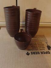 Kaffeebecher Einweg Becher Kaffee Plastik 50 Stück braun NEU