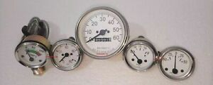 Willys MB Jeep Ford GPW CJ Speedometer Temp Oil Fuel Amp Gauges White Face ME