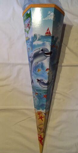 Schultüte Zuckertüte Schulanfang Einschulung Nestler Delphine Ozean Blau 85cm