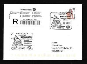 10034) Reco-lettre Ef Do-nominal 51opf/2, 61 € Sst Kamenz 2006 Chortreffen-afficher Le Titre D'origine Frissons Et Douleurs
