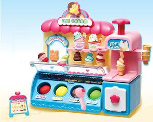 Ice Cream Shop Market Toy Accessories Color Clay Dough Kids Role