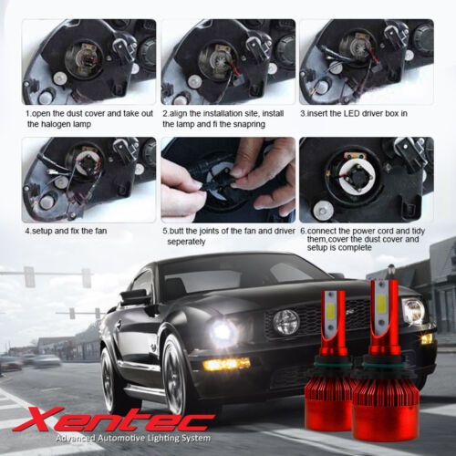 For 2002-2006 Acura RSX by Xentec LED Kit 200W 22000lm Headlight Fog Lights