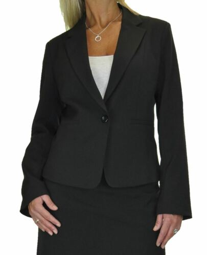 ICE Tailored Fully Lined Washable Business Office Jacket Black Size 10