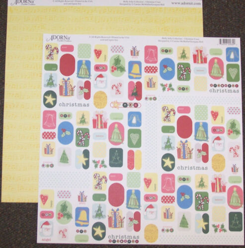 2PCS Holly Jolly CHRISTMAS CRAZE 12x12 Dbl-Sided Scrapbooking Paper