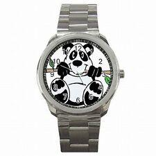 Panda Bear Giant China Bear Animal Gift Stainless Steel Sport Wrist Watch New!