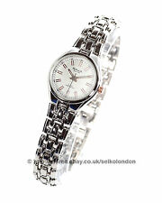Omax Ladies White Dial Watch, Silver Finish, Seiko (Japan) Movt. RRP £49.99