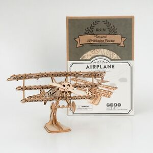 ROBOTIME-DIY-Airplane-Model-3D-Wooden-Puzzle-Kits-Handmade-Craft-Toy-for-Boy-Kid