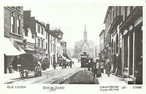 Bedfordshire-Postcard-Old-Luton-George-Street-c1911-2202