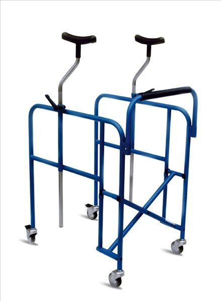 s l1600 - Deambulatore Ascellare pieghevole Girello anziani e disabili Rollator regolabile