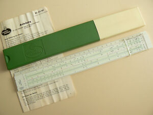 faber castell 57/87 rietz slide rule case manual | ebay