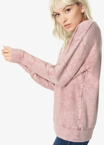 NWT JOE/'S SzM KENDALL LONG DOLMAN SLEEVE VINTAGE SWEATSHIRT WOOD ROSE