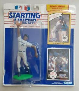 1990 KEN GRIFFEY JR. Jumping STARTING LINEUP Baseball Rookie Figure & Two Cards