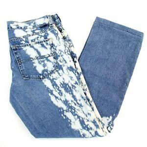 Vtg Tommy Jeans Paint Splatter Straight Leg Jeans Juniors 7 (30 x 27) Hilfiger