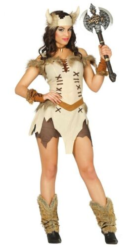 Femme Viking Warrior Princess Barbarian Saxon Fancy Dress Costume Femmes Costume