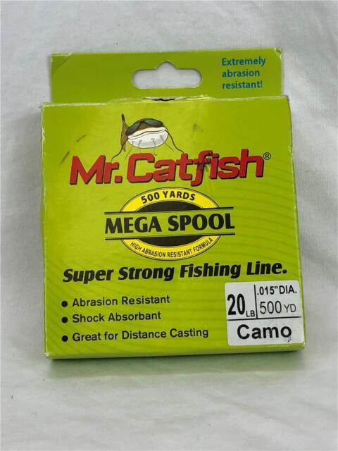 Mr. Catfish 500 Yard Mega Spool Super Strong Fishing Line HiVis or Camo
