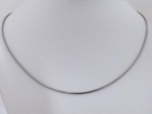Titan Titanium collar Collier serpientes cadena señores de plata durante mucho tiempo breve hombres