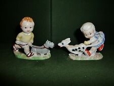 WADE- MABEL LUCIE ATTWELL SAM AND SARAH, SET OF 2 FIGURINES