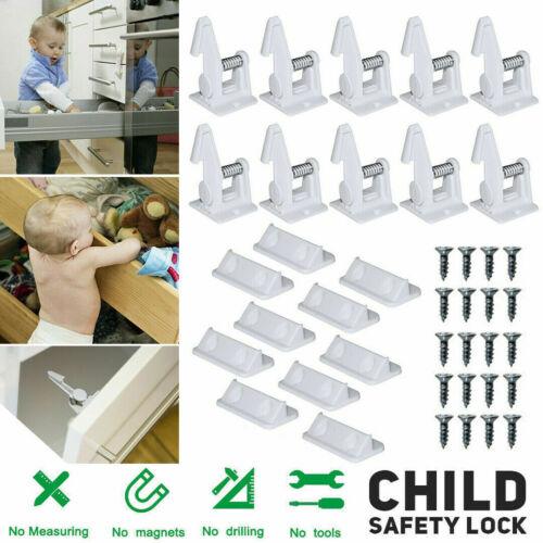 10 x Kindersicherung Schubladensicherung Schrankschloss Schranksicherung DE