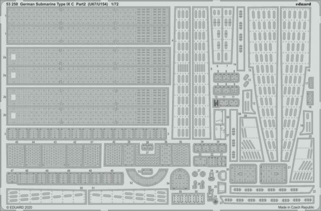 Eduard Accessories 53250 - 1:3 50 Allemand sous-Marin Type Ix C Partie 2 - Neuf