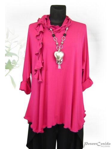 Shirt Tunika xxl Hoodie Lagenlook Pink Poco Zipfelkapuze xxxl Design° L xl fwqRnB