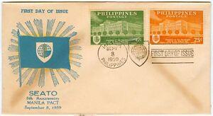 Philippine-1959-SEATO-5th-Anniversary-Manila-Pact-FIRST-DAY-COVER