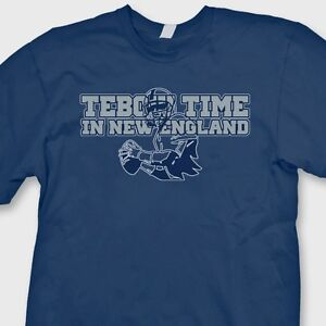 sports shoes e4cfc 5d3c5 Details about TEBOW TIME In New England Patriots jersey T-shirt Tim Tebow  Tee Shirt